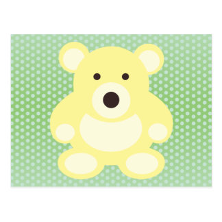Yellow Teddy Bear Postcard