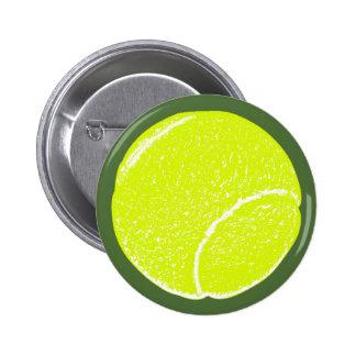 yellow tennis ball 6 cm round badge