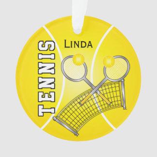 Yellow Tennis Ball and Net | DIY Name Ornament