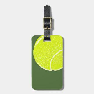yellow tennis ball luggage tag