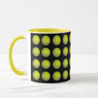 Yellow_Tennis_Balls_Pattern,_Combo Coffee Mug