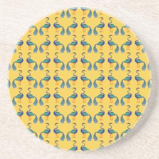Yellow textile coaster