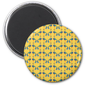 Yellow textile magnet