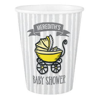 Yellow-Themed Baby Shower Paper Cup