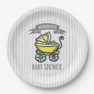 Yellow-Themed Baby Shower Paper Plate
