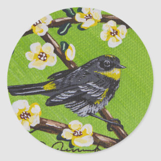 Yellow Throat Warbler ~ Spring Classic Round Sticker