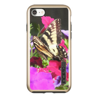 Yellow Tiger Swallowtail Butterfly on Pansies Incipio DualPro Shine iPhone 8/7 Case