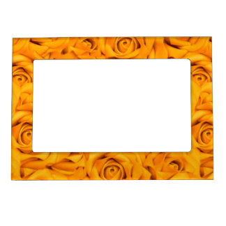Yellow Tiled Roses Magnetic Frame