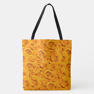 Yellow Tiled Roses Tote Bag