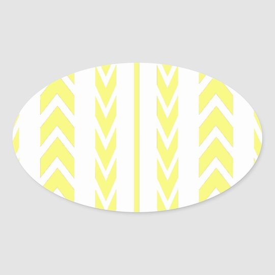 Yellow Tire Tread Oval Sticker