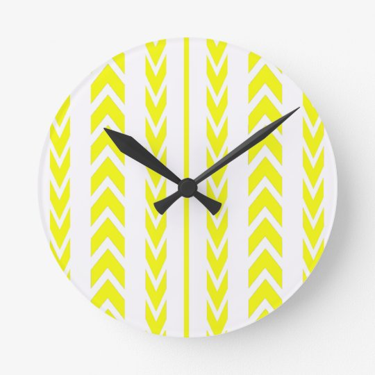 Yellow Tire Tread Round Clock