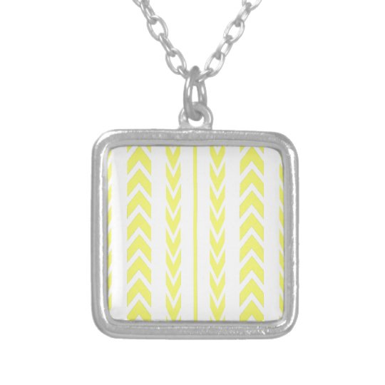 Yellow Tire Tread Silver Plated Necklace