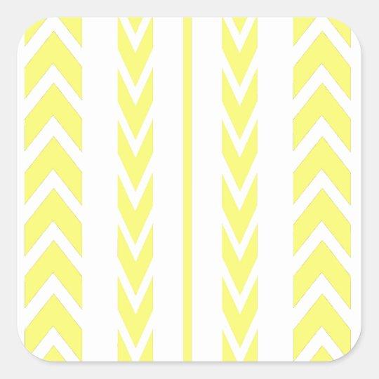 Yellow Tire Tread Square Sticker