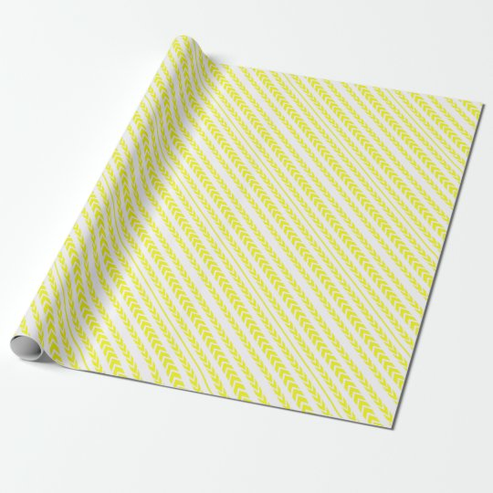 Yellow Tire Tread Wrapping Paper