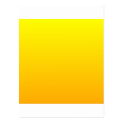 Yellow to Chrome Yellow Horizontal Gradient Post Cards