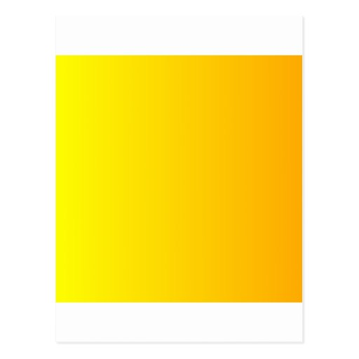 Yellow to Chrome Yellow Vertical Gradient Postcard