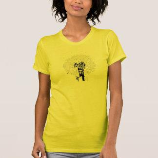 yellow to flower tshirt fun design