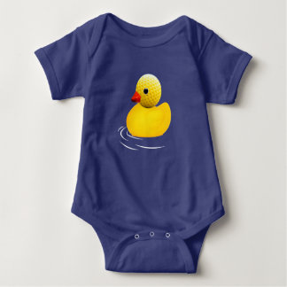 Yellow to rubber duck baby bodysuit