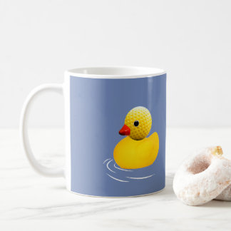Yellow to rubber duck coffee mug