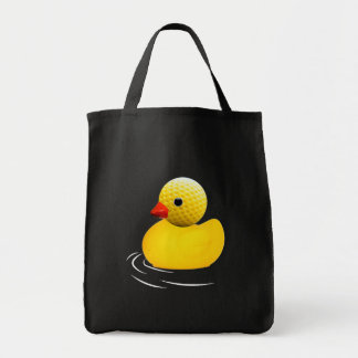 Yellow to rubber duck tote bag
