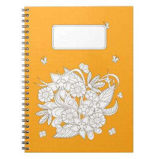 yellow to summer bouquet notebook
