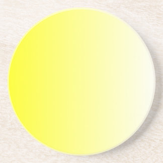 Yellow to White Gradient Coaster