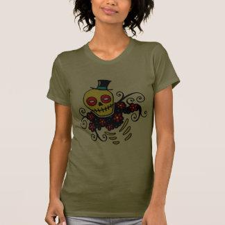 Yellow Top Hat Skeleton Shirt
