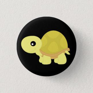 Yellow Tortoise 3 Cm Round Badge