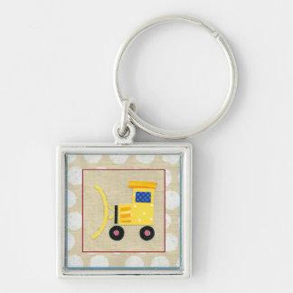 Yellow Toy Bulldozer Truck by Chariklia Zarris Keychain