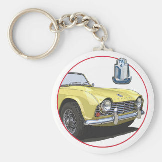 Yellow TR4 Basic Round Button Key Ring