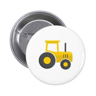 Yellow Tractor 6 Cm Round Badge