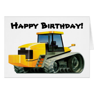 Yellow Tractor Greeting Card