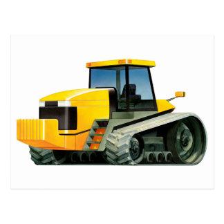 Yellow Tractor Postcard