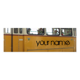 yellow tramcar business card template