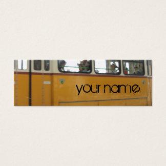 yellow tramcar mini business card