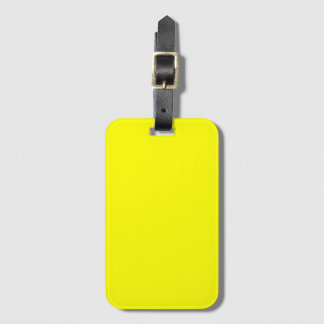 Yellow Travel Bag Tag