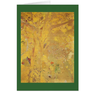 Yellow Tree by Odilon Redon Card