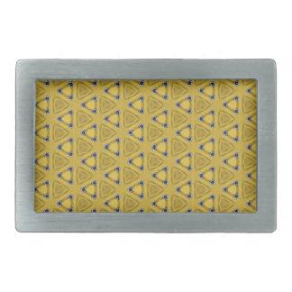 Yellow Triangular Pattern Belt Buckle