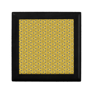 Yellow Triangular Pattern Gift Box