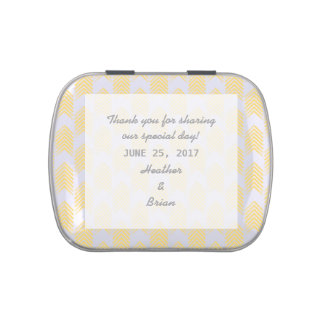 Yellow Tribal Arrows Wedding Candy Tin