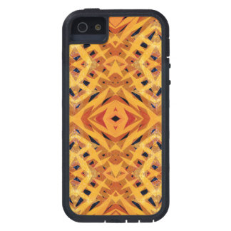 Yellow tribal shapes pattern case for iPhone 5