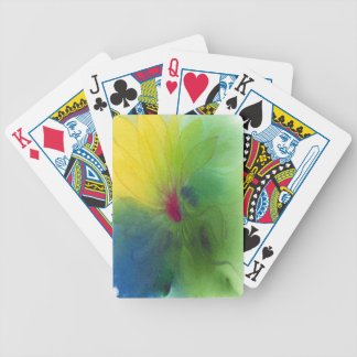 Yellow Triflower Playing Cards