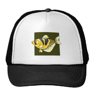 Yellow Tropical Fish Mesh Hat