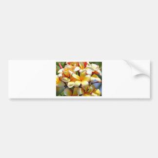 YELLOW TROPICAL FLOWERS BUMPER STICKER