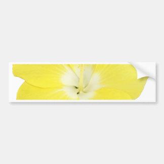 Yellow Tropical Hibiscus Flower Bumper Sticker
