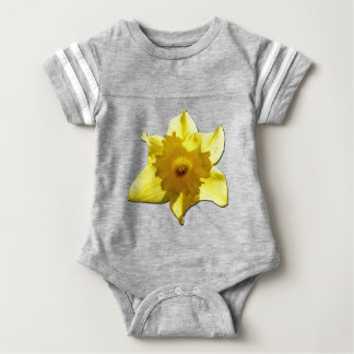 Yellow Trumpet Daffodil 1.0 Baby Bodysuit