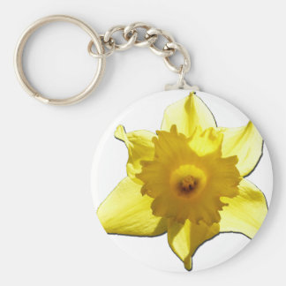 Yellow Trumpet Daffodil 1.0 Key Ring