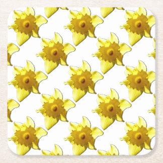 Yellow Trumpet Daffodil 1.0 Square Paper Coaster