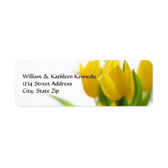 Yellow Tulip - Address Label
