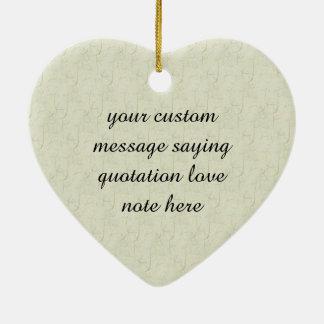 Yellow Tulip Art Ceramic Heart Decoration